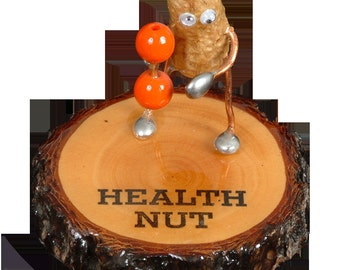 Health Nut Peanut Figurine by We're Nuts About Life