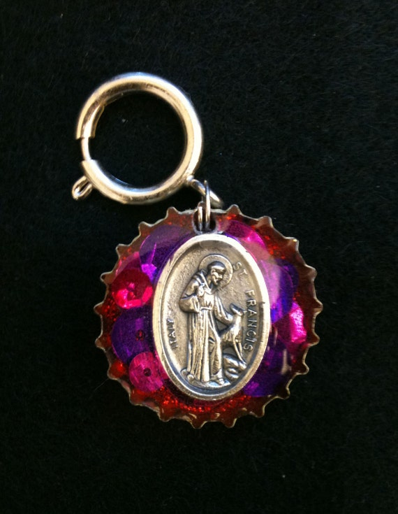 st francis of assisi pet charm to protect by