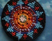 Vibrant beadwork necklace Native American style