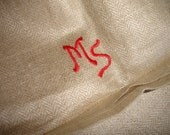 Linen  Manglecloth Mangle Cloth  Banquet Tablecloth  Monogram MS Fabric for  Pillow Bag Curtain Upholstery Roman Blind Roman Shades