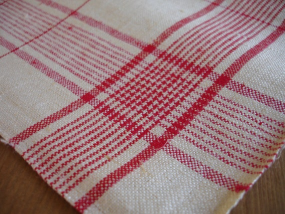 German Antique Handwoven Thickly Linen Towel Red Stripes Kitchen Runner  Dish Cloth Napkin  Wrap  Bath Cloth Torchon Free Shipping Worldwide