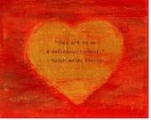 Delicious Heart / Love Quote / Plaque Wall Art / Gift / Valentine's Day / Ralph Waldo Emerson