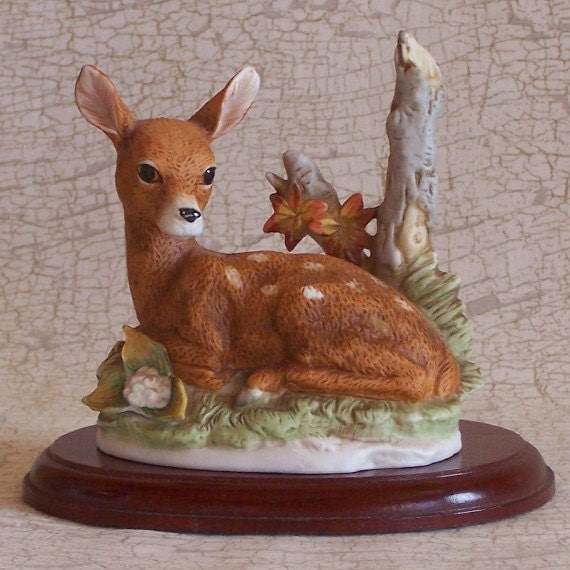 home interior deer picture homco home interiors 8879 deer fawn figurine 18243