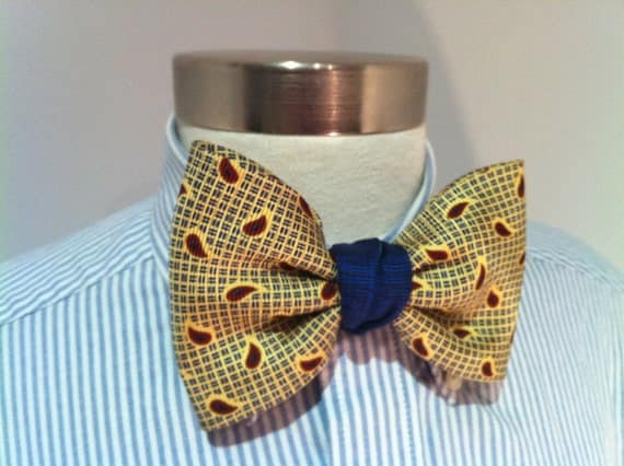RESERVED Tommy Hilfiger Upcycled Yellow Handmade Bowtie