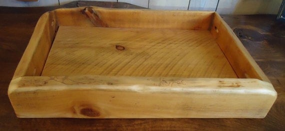 Rustic Pine Tray (Clear Poly)