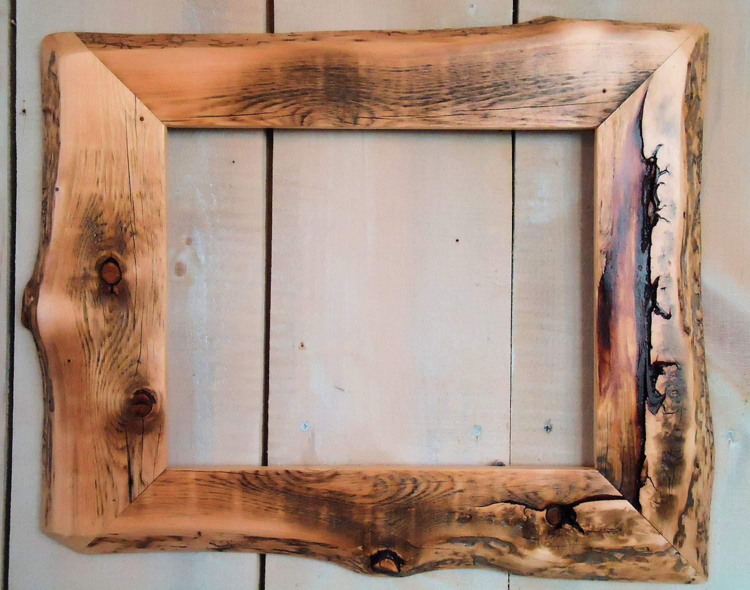 Wood Photo Frames : Handmade Rustic Wood Frame 11x14 Clear Poly by ModerationCorner