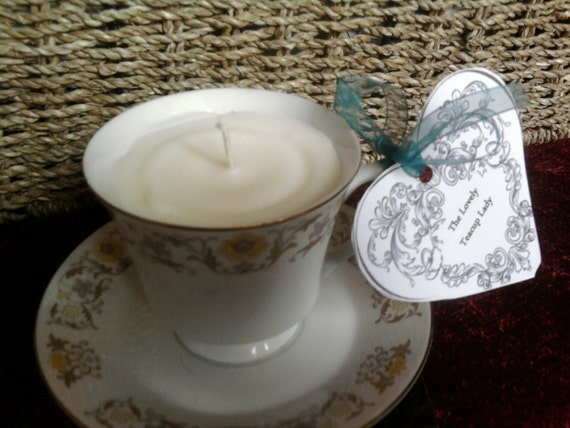 Vinatge Teacup Candle (made from fair trade soy wax) perfect for mothers day