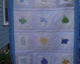 Under the Sea Applique Baby/Toddler Quilt