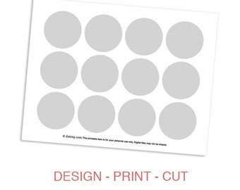 Instant Download: Cupcake Topper Printable Template - DIY Make Your Own Party Circles Design Template by daintzy