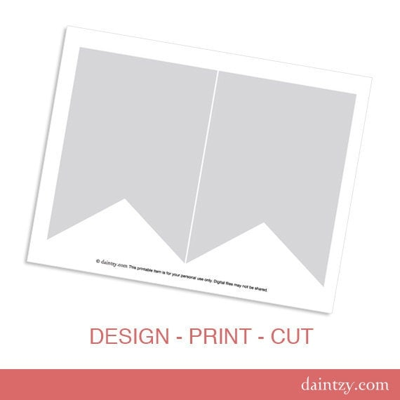 instant download  party printable template diy banner flag