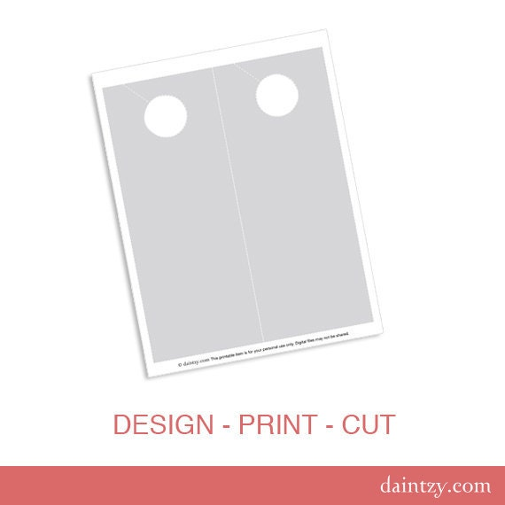 Instant Download: Door Hanger Printable Template Diy Make