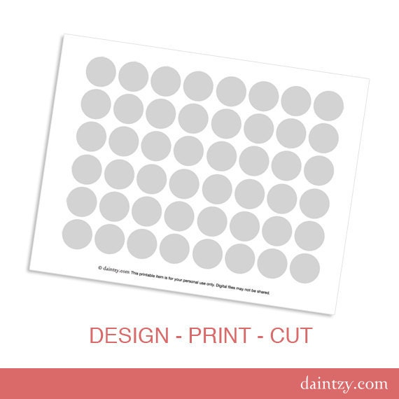 Hershey's Kiss Printable Template - DIY Blank Make Your Own Party Circles Design Template by daintzy