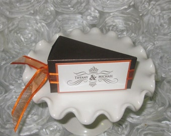 wedding cake slice box cake slice box etsy 24905