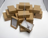 Kraft Jewelry Gift  Boxes Cotton Filled Presentation Display Boxes size 2.5x1.5  20 pack