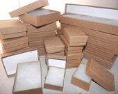 Gift Boxes 100 Assorted Size, Kraft Cotton filled Presentation, Display Jewelry Boxes