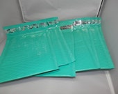 20 Padded Mailing Envelopes  Teal Poly Bubble Mailers Self Adhesive  Envelopes size 0 6x9 size