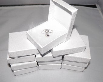 """20 White Presentation Cotton Filled Jewelry Boxes, Gift  Boxes size 2 1/8""""x1 5/8"""""""