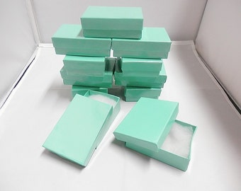 "20 Glossy Teal Jewelry Presentation Boxes 3.25"" X 2.25"" X 1"""