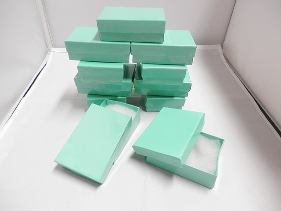 """20 Glossy Teal Jewelry Presentation Boxes 3.25"""" X 2.25"""" X 1"""""""