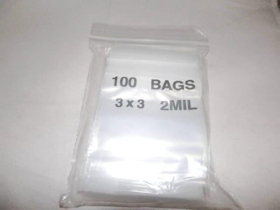 3x3 Zip Lock Poly Bags Recloseable Bags