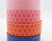 Japanese Geometric Flower Pattern Pattern Washi Tape -15mm