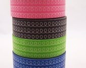 Japanese Loopy Loop Pattern Washi Tape -15mm