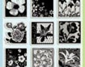 "Clear Acrylic Stamp Set ""Flower Garden Inchies"""