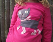 Kitty in Boots Pink Kids T shirt Winter Animals
