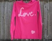 Love in Pink Cursive T shirt Mum's Too Mum and Daughter