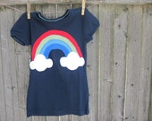 Paint Me A Rainbow Kids T shirt with Clouds St. Patricks Day
