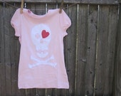 LOVE -LY Pirate Girl Kids T shirt  Hearts
