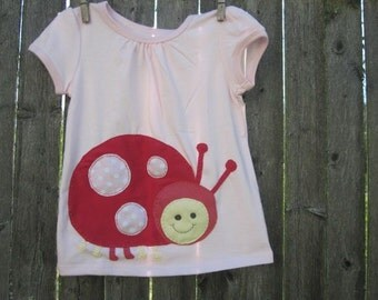 The Very Lovely Ladybug Kids/Toddler T shirt Spring Friends