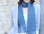 Crochet Scarf Pattern PDF. Warm Textured Scarf. Easy pattern with US, UK and symbol chart instructions.