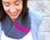 Crochet Cowl Pattern PDF. Cosy Cowl with a Stripe. US, UK and symbol instructions. Sell what you make.