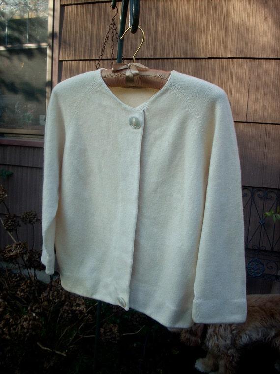 SALE--Vintage Cashmere Cardigan