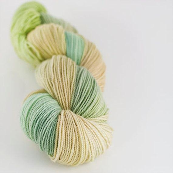 Hand dyed SW Merino fingering yarn- Aspen