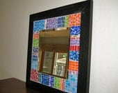 Color Block Mosaic Mirror
