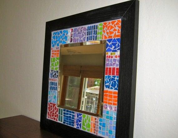Color Block Mosaic Mirror