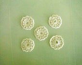 Set of 5 Lace Doilies in Off White Cream 3 inch diameter
