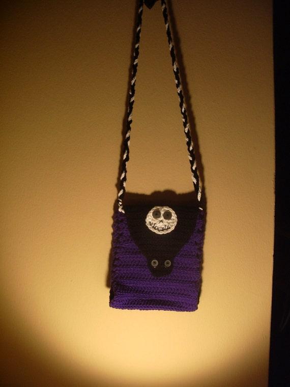 SALE Crochet Nightmare Skeleton Shoulder Bag FREE SHIPPING