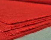 Traditional Handmade Paper (Hanji) - DarkRed