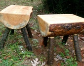 Log stools - benches - tables