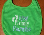 New Family Favorite embroidered bib