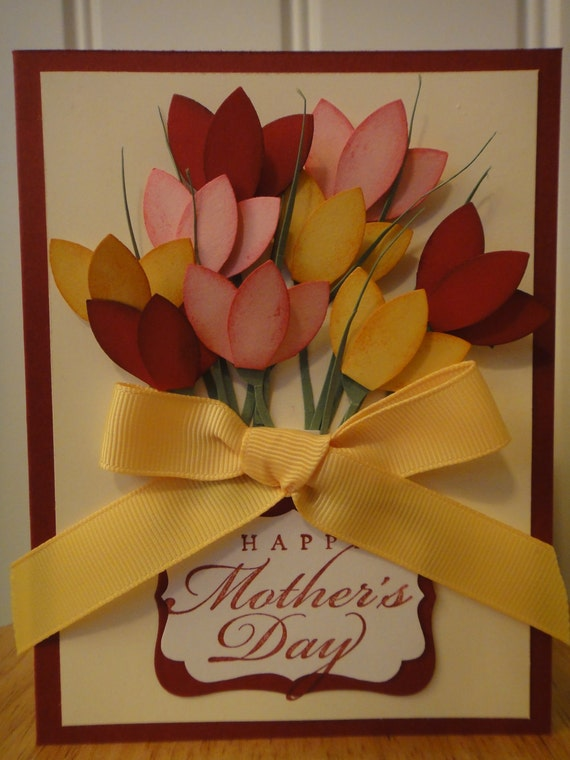 Stampin Up Handmade Tulips Flower Mother 39 S Day Birthday