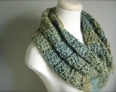Crochet Christmas, St. Patrick's Day Green, Sage Green, Spring Green Infinity Scarf, Women's Scarf, Men's Scarf, Unisex Scarf