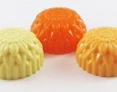 Suds and the City Soap: Mini Dahlia Soap Set - 3 Mini Soaps