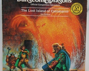 Vintage Book - Advanced Dungeons & Dragons C3 Official Competition Adventure The Lost Island of Castanamir - Adventure Book