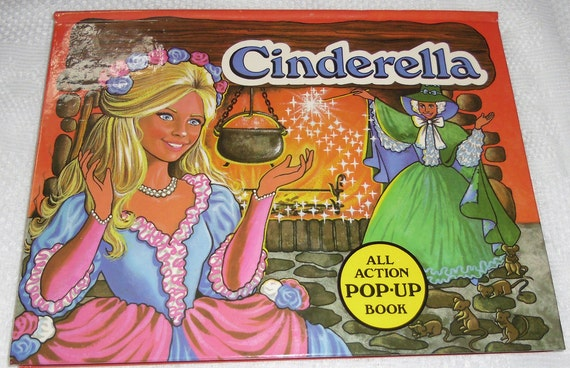 Vintage Cinderella Pop Up  Illustrated by V. Kubasta Printed in Czechoslovakia 1985