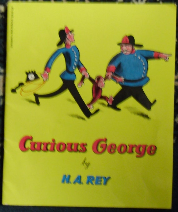 Vintage Childrens Storybook - Curious George by H.A.Rey - Original 1941 Story Published by Scholastic 1970s