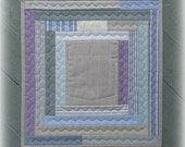 HOME Mini Wall Quilt, Wall Pocket, Shabby Chic, Beach Colors, Ready To Ship